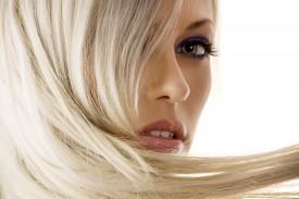 closeup of blond girl