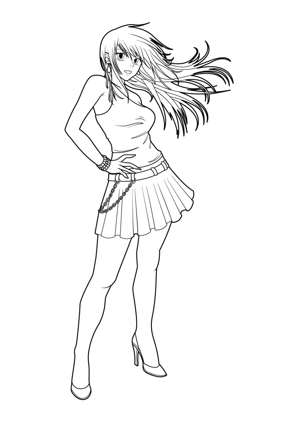 Comment dessiner des personnages de manga - Manga dessin a imprimer ...